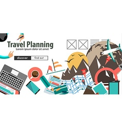 Concept for travel organization and trip planning vector