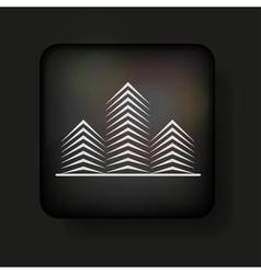 Minimalistic buildings icon vector