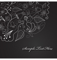abstract floral design vector image