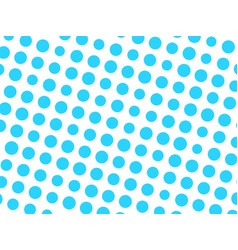 Abstract geometric pattern of blue circle dots in vector
