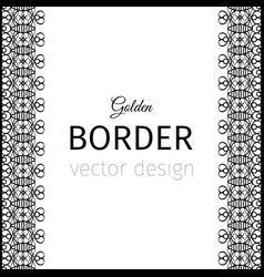 Black vertical geometrical style border vector