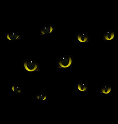 cats eyes in darkness realistic vector image vector image