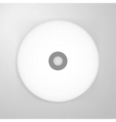 Compact Disk Blank Mockup vector image