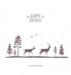 Deer forest vector