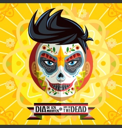 Dia de los muertos day of the dead face painting vector