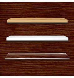 Different Shelves Set vector image