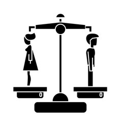 divorce - man woman icon vector image