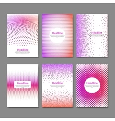 Dotted flyer deisgn template brochure cover book vector