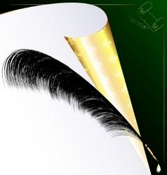 golden paper vector image