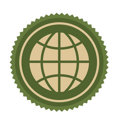 green symbol earth planet icon vector image vector image