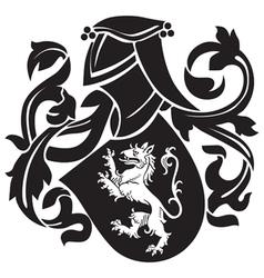 Heraldic silhouette no18 vector