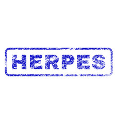 Herpes rubber stamp vector