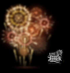 Holiday firework blurred background vector
