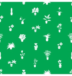 Home houseplants and flowers in pot green pattern vector