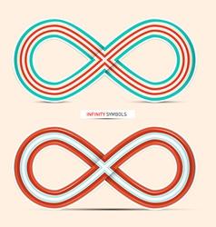 Infinity Symbols Set - vector image vector image