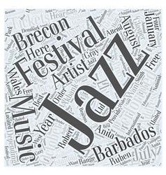 Jazz music festivals word cloud concept vector