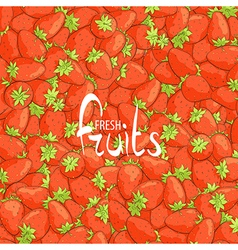 Juicy strawberries vector