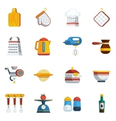 Kitchen Utensils Icons Set vector image vector image