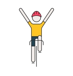 Modern of cyclist vector image vector image