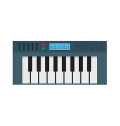 Music synthesizer electronic piano vector