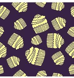 purple cake pattern vector image