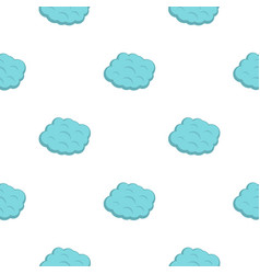 Round cloud pattern flat vector