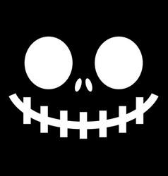 scary halloween ghost or pumpkin face desig vector image