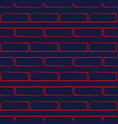 seamless pattern of stylized brick wall vector image vector image