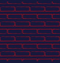 seamless pattern of stylized brick wall vector image