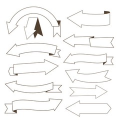 Set of contour arrows vector