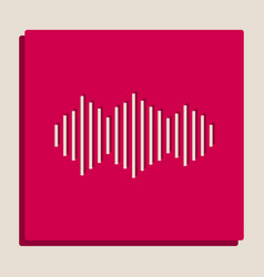 Sound waves icon grayscale version of vector