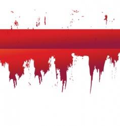splatter border vector image vector image