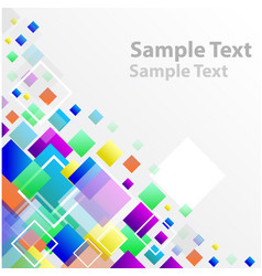square abstract banner vector image