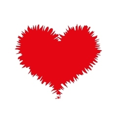 Heart love red vector