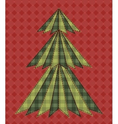 Christmas tree for scrapbooking 6 vector