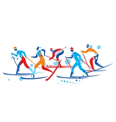 Crosscountry Skier competition vector image