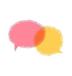 Speech bubble icon vector
