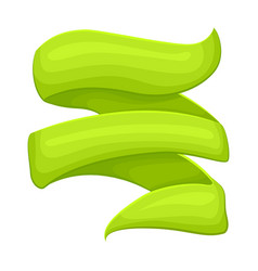 green curved sticker isolated vector image