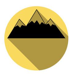 mountain sign   flat black vector image