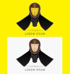 Kendo helmet mask vector