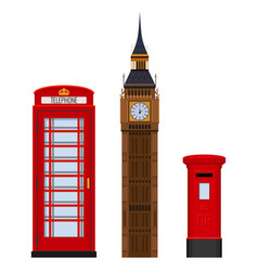 Traditional london sightseeing set vector