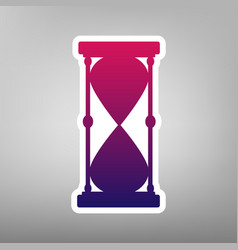 Hourglass sign purple vector