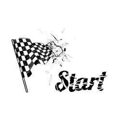 Drawing checkered flag in the dynamic style vector