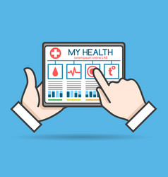 Tablet telehealth concept vector
