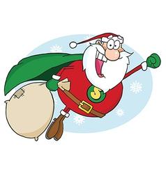 Super hero santa cartoon vector image