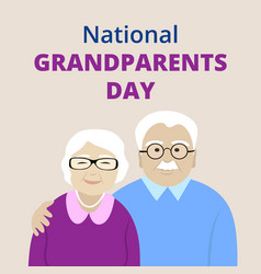 National grandparents day vector