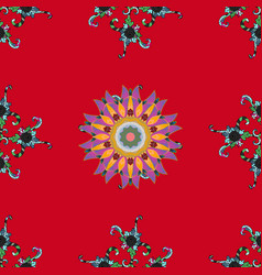 Trendy seamless floral pattern in beautiful vector