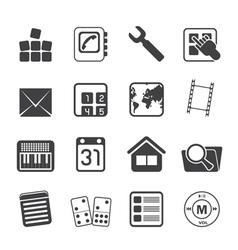 Mobile phone and computer icon vector