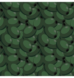 Seamless texture with olives vector image