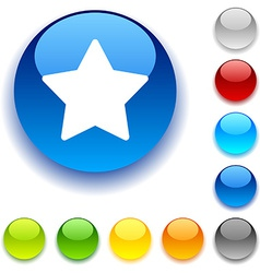 Star button vector